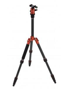 Rollei Compact Traveler No. 1 Carbon kolmijalka Digitaalinen ja elokuva-kamerat 3 jalkoja Musta, Oranssi Rollei 22579 - 1