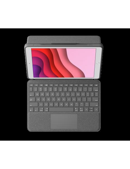 Logitech Combo Touch mobiililaitteiden näppäimistö QWERTZ Sveitsi Grafiitti Smart Connector Logitech 920-009609 - 2