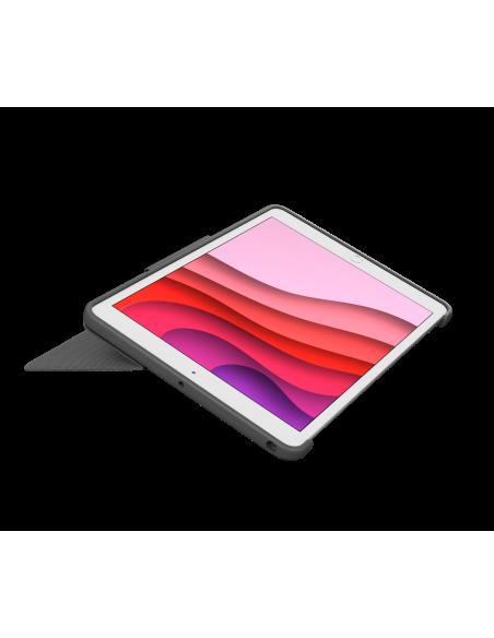 Logitech Combo Touch mobiililaitteiden näppäimistö QWERTZ Sveitsi Grafiitti Smart Connector Logitech 920-009609 - 4