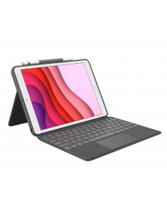 Logitech Combo Touch mobile device keyboard AZERTY French Graphite Smart Connector Logitech 920-009625 - 1