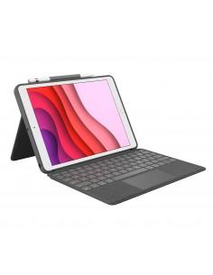 Logitech Combo Touch mobiililaitteiden näppäimistö QWERTY Espanja Grafiitti Smart Connector Logitech 920-009627 - 1