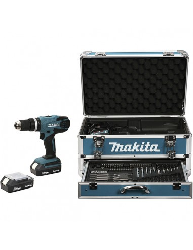 Makita HP457DWEX4 porakone 1400 RPM 1.7 kg Musta, Sininen Makita HP457DWEX4 - 1