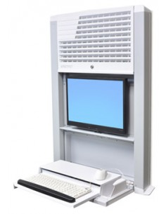 Ergotron StyleView Sit-Stand Enclosure Wall-mounted CPU holder White Ergotron 60-610-062 - 1