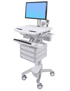 Ergotron StyleView Grey, White Flat panel Multimedia cart Ergotron SV43-1330-0 - 1