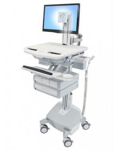 Ergotron StyleView Aluminium, Grey, White Flat panel Multimedia cart Ergotron SV44-1342-2 - 1