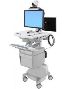 Ergotron SV44-57T1-C multimedialaitteiden kärry ja teline Alumiini, Harmaa, Valkoinen Litteä paneeli Multimediakärry Ergotron SV