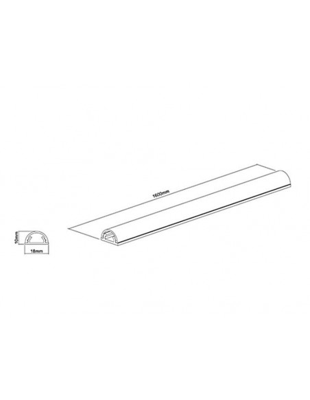 Multibrackets M Universal Cable Cover White 18mm-W 1600-L Multibrackets 7350022731264 - 11