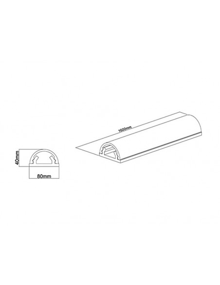 Multibrackets 2186 kaapelisuojain Kaapelin hallinta Valkoinen Multibrackets 7350022732186 - 10