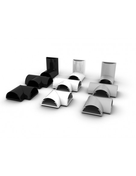 Multibrackets M Cable Cover T Joint 50mm White Multibrackets 7350022733213 - 2