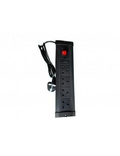 Multibrackets 9512 jatkojohto 4 AC-pistorasia(a) Sisätila Musta Multibrackets 7350022739512 - 1