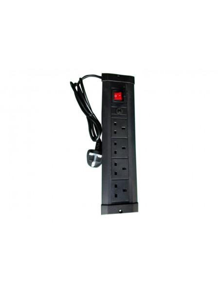 Multibrackets 9512 förlängningssladdar 4 AC-utgångar inomhus Svart Multibrackets 7350022739512 - 1