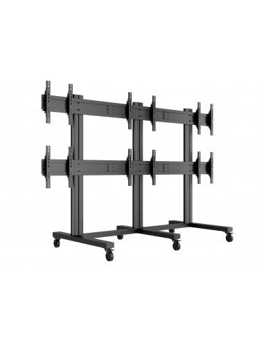 "Multibrackets M Public Video Wall Stand 6-Screens 40-55"" Black Multibrackets 7350022739727 - 1"
