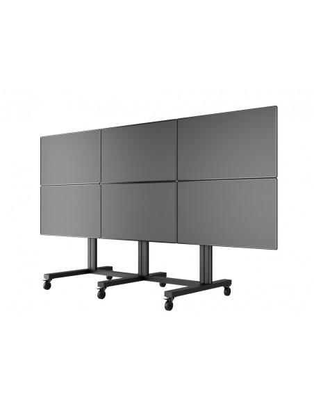 "Multibrackets M Public Video Wall Stand 6-Screens 40-55"" Black Multibrackets 7350022739727 - 9"