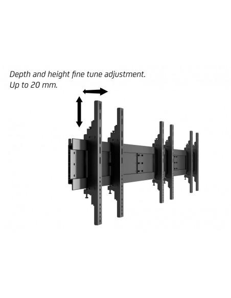 """Multibrackets 9727 kyltin näyttökiinnike 139.7 cm (55"""") Musta Multibrackets 7350022739727 - 17"""