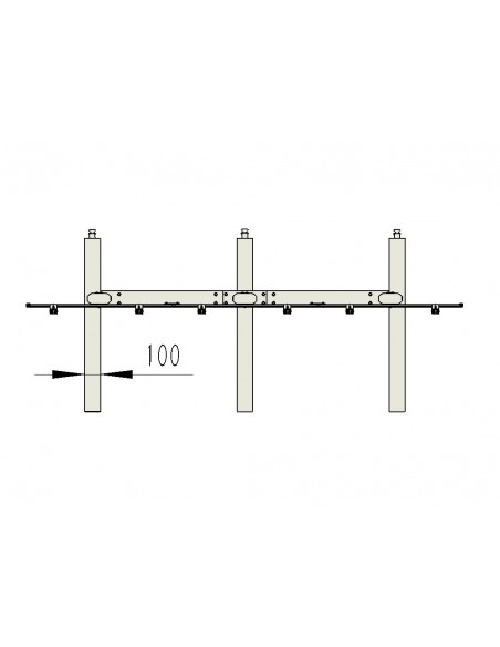 """Multibrackets 9727 kyltin näyttökiinnike 139.7 cm (55"""") Musta Multibrackets 7350022739727 - 19"""