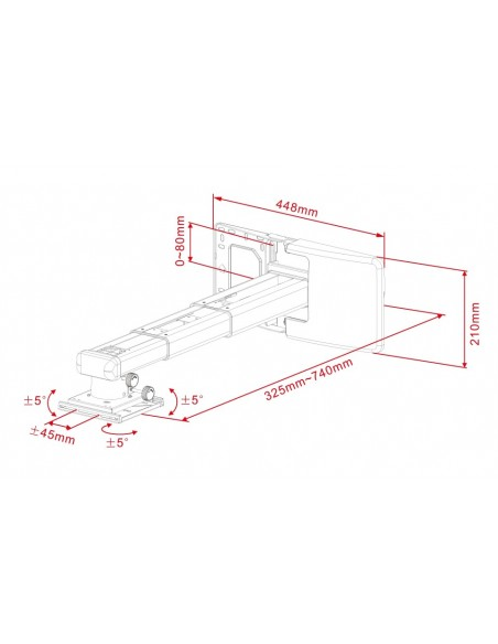 Multibrackets 9833 projektorin kiinnike Seinä Valkoinen Multibrackets 7350022739833 - 5