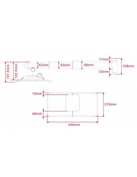 Multibrackets 9833 projektorin kiinnike Seinä Valkoinen Multibrackets 7350022739833 - 6