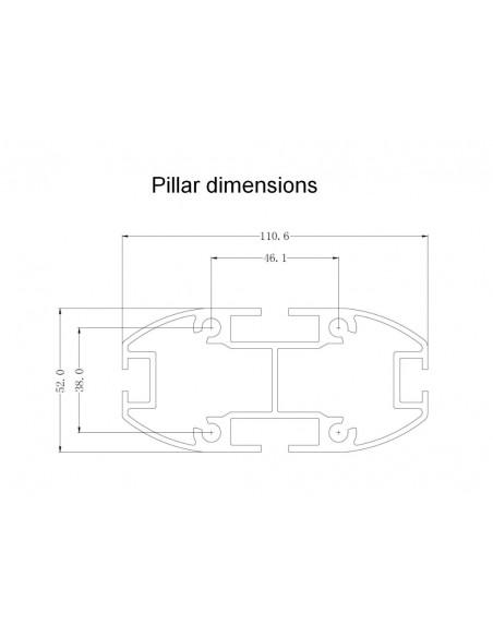 """Multibrackets 0643 kyltin näyttökiinnike 160 cm (63"""") Musta Multibrackets 7350073730643 - 19"""