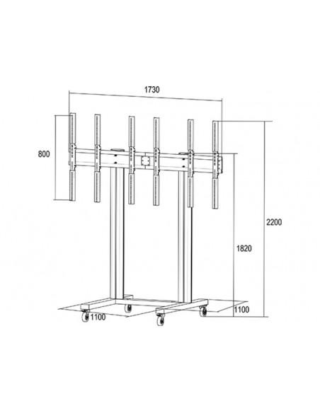 """Multibrackets 1800 fäste för skyltningsskärm 139.7 cm (55"""") Svart Multibrackets 7350073731800 - 19"""