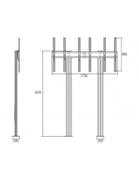 """Multibrackets 1800 fäste för skyltningsskärm 139.7 cm (55"""") Svart Multibrackets 7350073731800 - 20"""