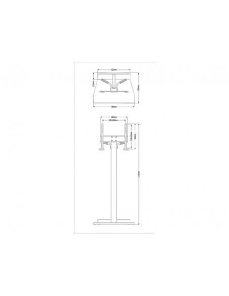 """Multibrackets 2364 kyltin näyttökiinnike 139.7 cm (55"""") Valkoinen Multibrackets 7350073732364 - 7"""