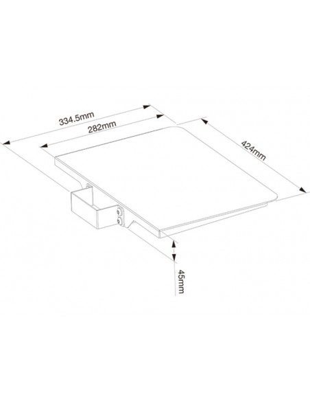 Multibrackets M Tilt & Roll Codec Shelf Multibrackets 7350073732388 - 3