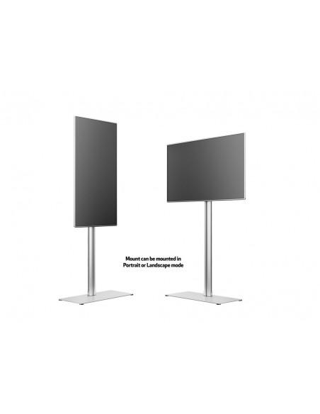Multibrackets M Display Stand 180 Single Silver w. Floorbase Multibrackets 7350073732418 - 10