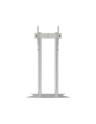 Multibrackets M Public Display Stand 180 Dual Pillar Floorbase Silver Multibrackets 7350073732555 - 1