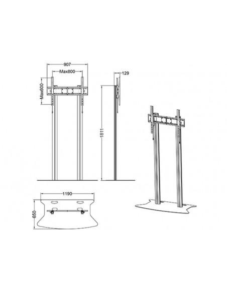 """Multibrackets 2555 fäste för skyltningsskärm 2.79 m (110"""") Silver Multibrackets 7350073732555 - 9"""