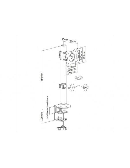 Multibrackets M Deskmount Basic Single Multibrackets 7350073733293 - 21