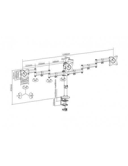 Multibrackets M Deskmount Basic Triple Multibrackets 7350073733385 - 20