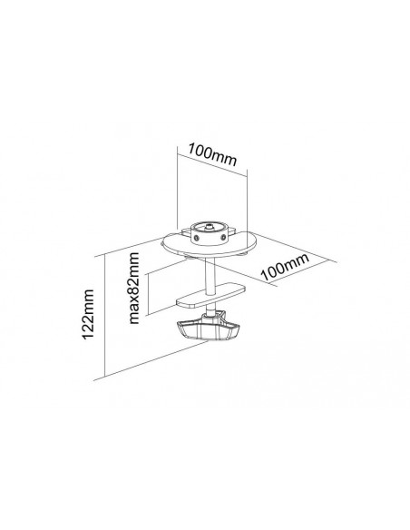 Multibrackets 3408 monitorikiinnikkeen lisävaruste Multibrackets 7350073733408 - 3