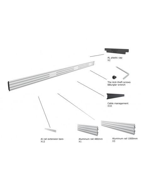 Multibrackets M Pro Series - Triple Screen Rail 348cm Silver Multibrackets 7350073733729 - 2