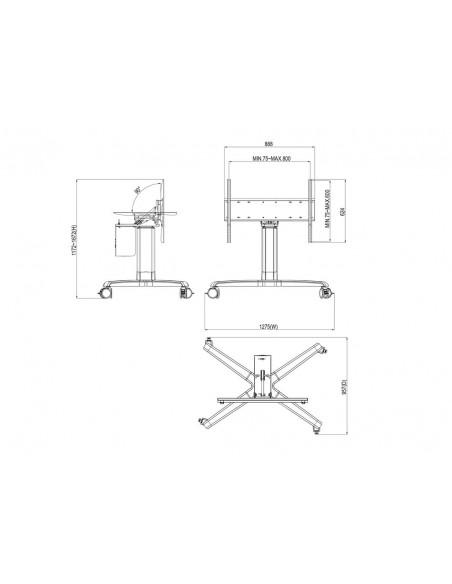 """Multibrackets 3927 fäste för skyltningsskärm 2.13 m (84"""") Silver Multibrackets 7350073733927 - 10"""
