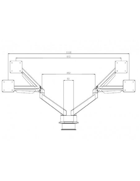 """Multibrackets 3989 monitorin kiinnike ja jalusta 81.3 cm (32"""") Puristin Valkoinen Multibrackets 7350073733989 - 22"""