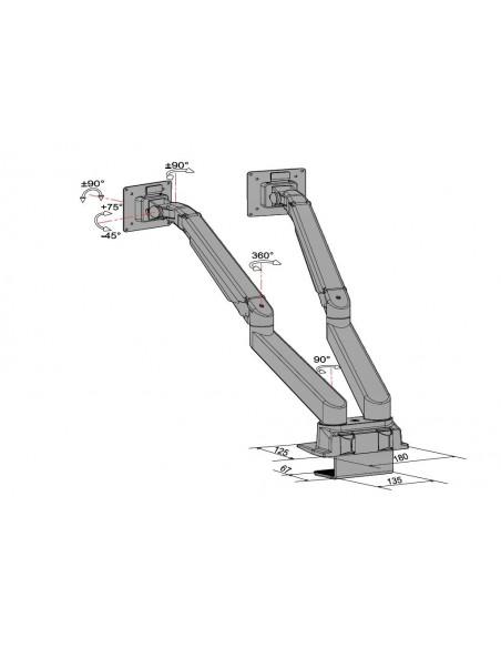 """Multibrackets 4207 monitorin kiinnike ja jalusta 81.3 cm (32"""") Puristin Musta Multibrackets 7350073734207 - 22"""