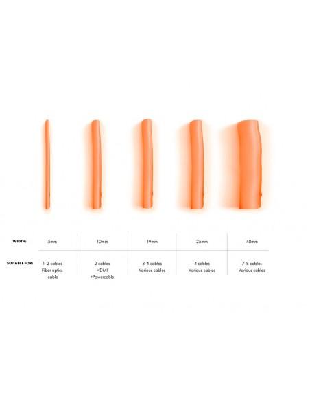 Multibrackets 4474 kaapelinjärjestäjä Kaapelisukka Oranssi 1 kpl Multibrackets 7350073734474 - 5