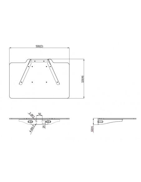 Multibrackets 5273 monitorikiinnikkeen lisävaruste Multibrackets 7350073735273 - 3