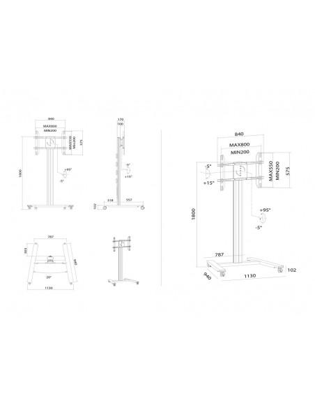 """Multibrackets 5327 fäste för skyltningsskärm 2.03 m (80"""") Silver Multibrackets 7350073735327 - 16"""