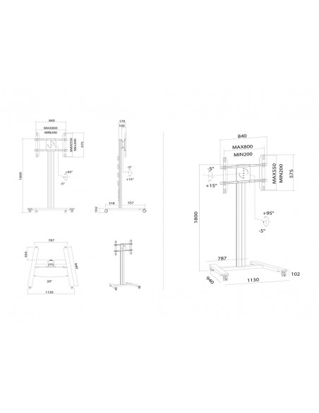 Multibrackets M Public Display Stand 180 HD Single Silver Multibrackets 7350073735327 - 16