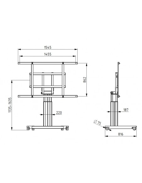 Multibrackets M CISCO Webexboard/ Spark Board Kit 70 for Manual & Motorzied Mount HD/SD Multibrackets 7350073735433 - 3