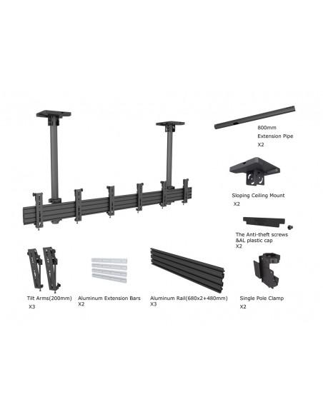 """Multibrackets 5662 kyltin näyttökiinnike 81.3 cm (32"""") Musta Multibrackets 7350073735662 - 6"""