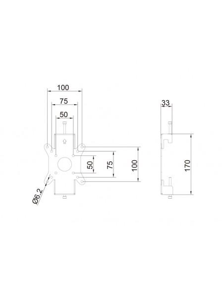 Multibrackets 6300 monitorikiinnikkeen lisävaruste Multibrackets 7350073736300 - 14