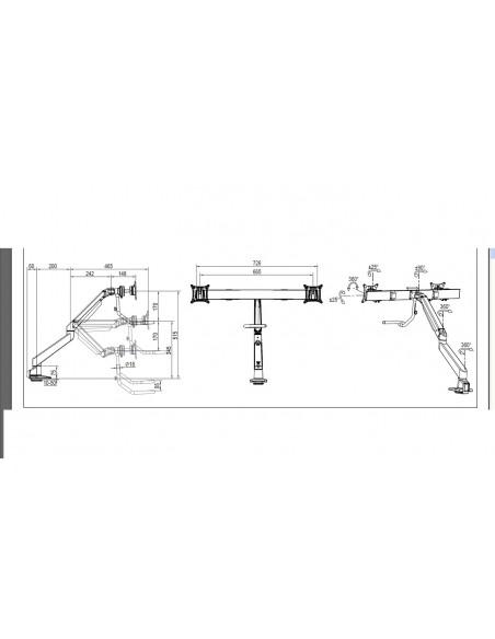 """Multibrackets 6355 monitorin kiinnike ja jalusta 71.1 cm (28"""") Puristin Musta Multibrackets 7350073736355 - 19"""