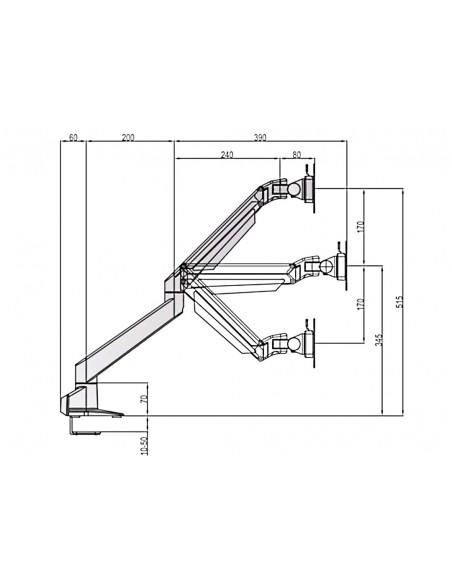 """Multibrackets 6362 fäste och ställ till bildskärm 71.1 cm (28"""") Klämma Silver Multibrackets 7350073736362 - 19"""