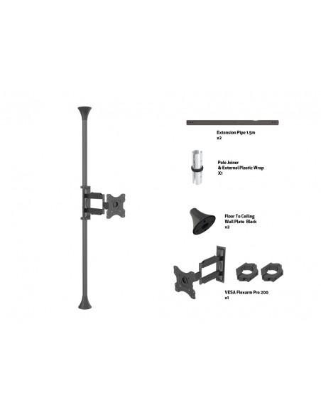 """Multibrackets 6393 kyltin näyttökiinnike 116.8 cm (46"""") Musta Multibrackets 7350073736393 - 7"""