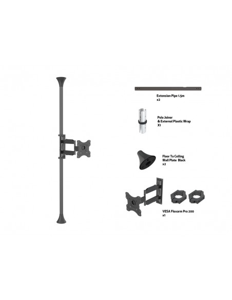 Multibrackets M Floor to Ceiling Mount Pro MBFC1F, VESA200 Multibrackets 7350073736393 - 7