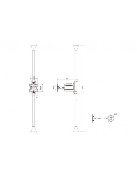 """Multibrackets 6393 fäste för skyltningsskärm 116.8 cm (46"""") Svart Multibrackets 7350073736393 - 15"""