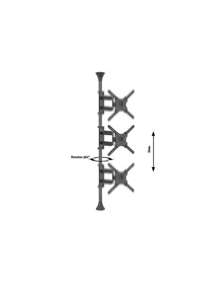 """Multibrackets 6409 kyltin näyttökiinnike 139.7 cm (55"""") Musta Multibrackets 7350073736409 - 8"""