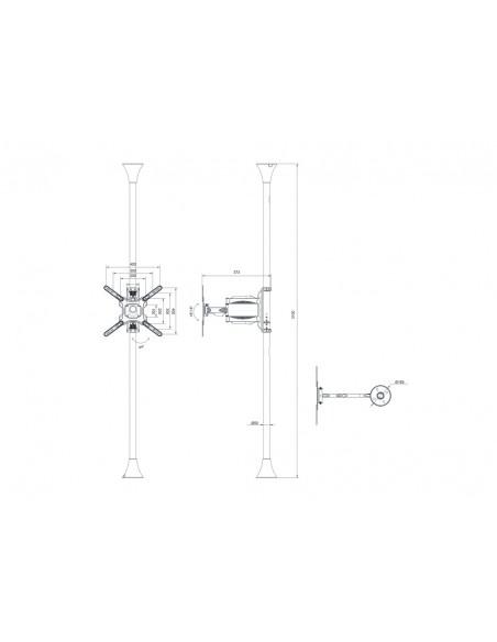 """Multibrackets 6409 fäste för skyltningsskärm 139.7 cm (55"""") Svart Multibrackets 7350073736409 - 13"""